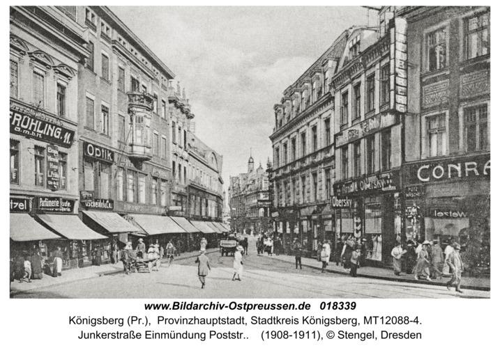 Königsberg, Junkerstr. Einmündung Poststr.