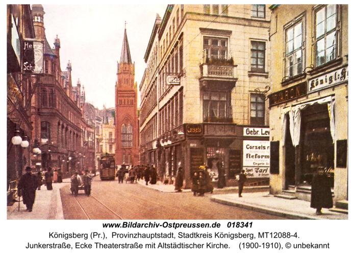Königsberg, Junkerstr. mit Altstädtischer Kirche