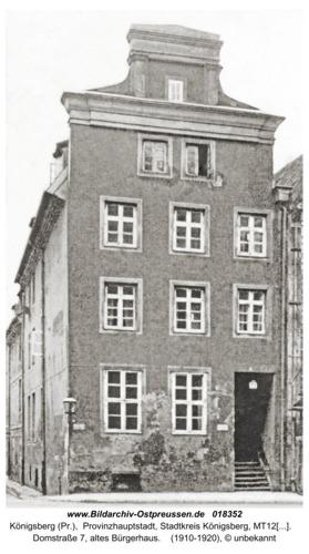 Königsberg, Domstraße 7, altes Bürgerhaus