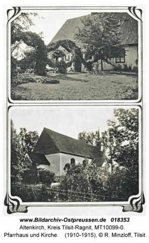 Altenkirch fr. Budwethen, Pfarrhaus und Kirche