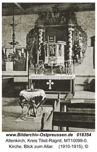 Altenkirch fr. Budwethen, Kirche, Blick zum Altar