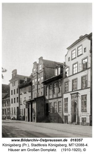 Königsberg, Häuser am Großen Domplatz
