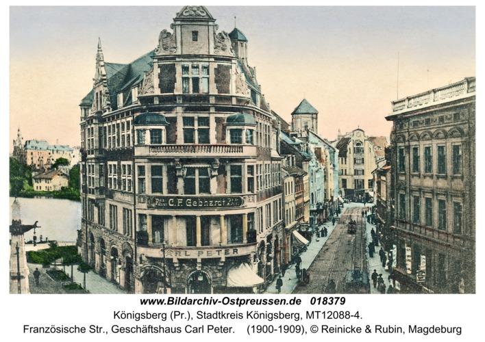 Königsberg, Französische Str., Geschäftshaus Carl Peter