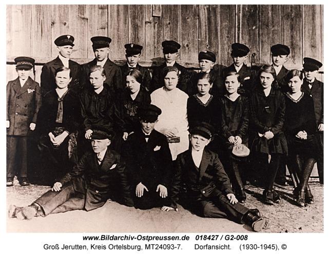 Groß Jerutten, Konfirmanden der Volksschule der Jahrgänge 1914/15 im Jahr 1929