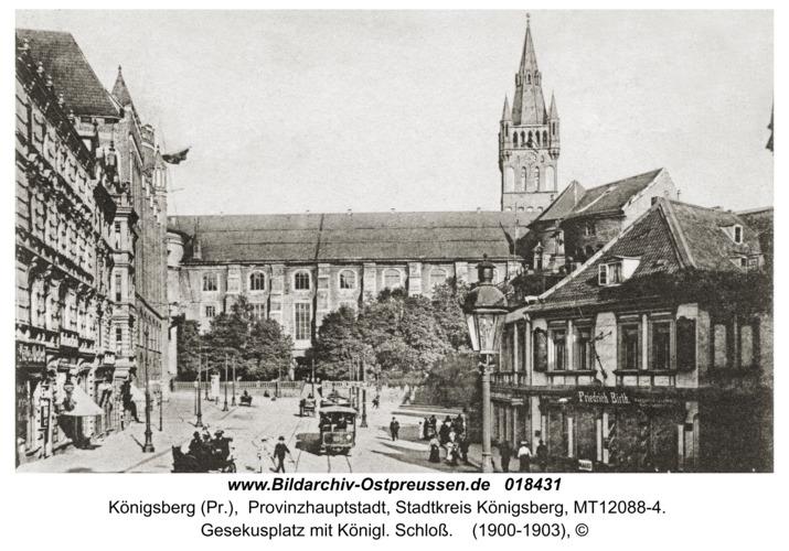 Königsberg, Gesekusplatz mit Königl. Schloß