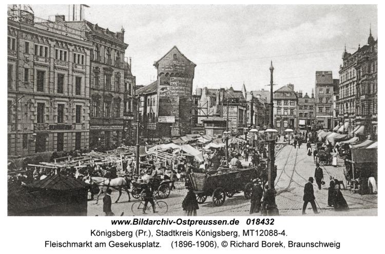 Königsberg, Fleischmarkt am Gesekusplatz