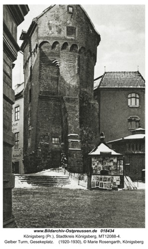 Königsberg, Gelber Turm, Gesekeplatz