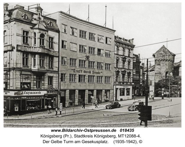 Königsberg, Der Gelbe Turm am Gesekusplatz