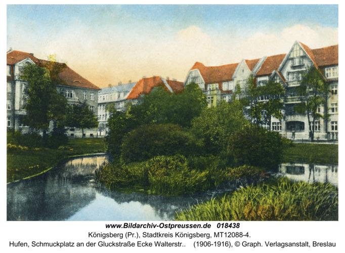 Königsberg, Hufen, Schmuckplatz an der Gluckstraße Ecke Walterstr.