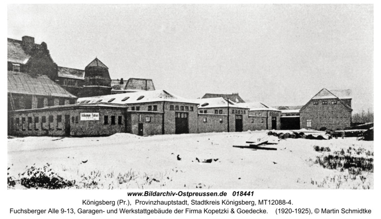 Königsberg, Stresemannstr. 9-13, Kopelzky & Goedecke