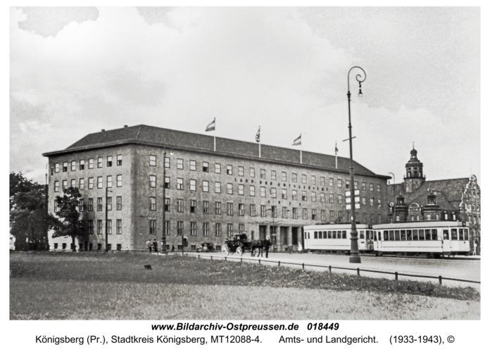 Königsberg, Amts- und Landgericht
