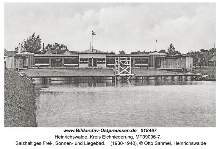Heinrichswalde Kr. Elchniederung, Salzhaltiges Frei-, Sonnen- und Liegebad