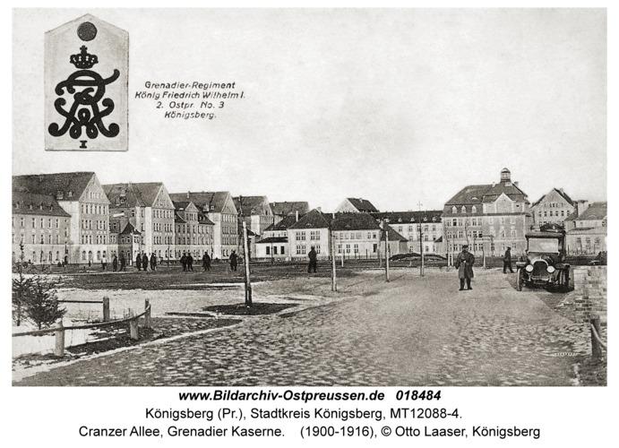 Königsberg, Cranzer Allee, Grenadier Kaserne