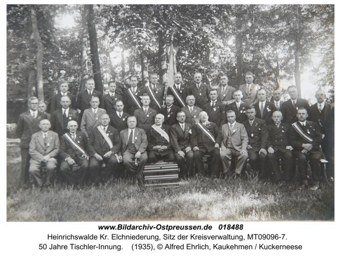 Heinrichswalde, 50 Jahre Tischler-Innung