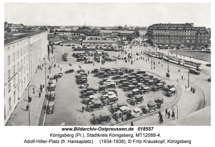 Königsberg, Adolf-Hitler-Platz (fr. Hansaplatz)