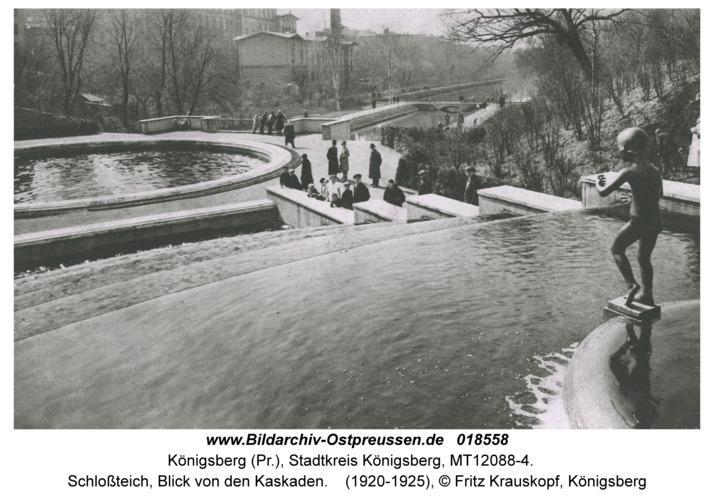 Königsberg, Schloßteich, Blick von den Kaskaden