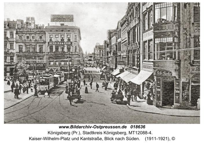 Königsberg, Kaiser-Wilhelm-Platz und Kantstraße, Blick nach Süden