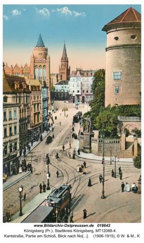 Königsberg, Kantstraße, Partie am Schloß, Blick nach Norden