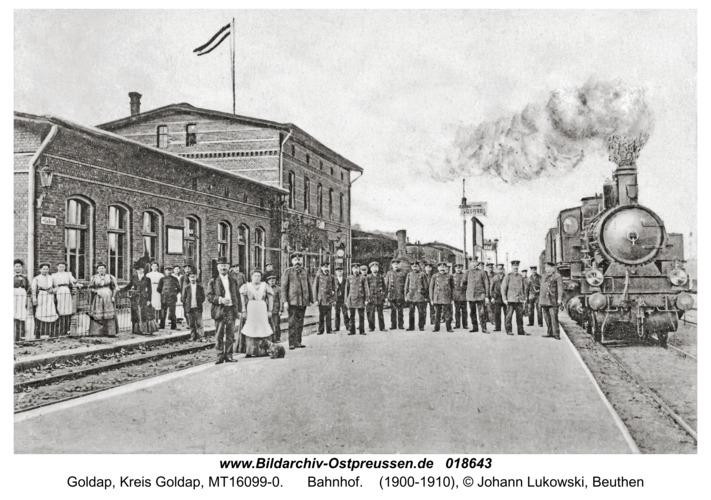 Goldap, Bahnhof