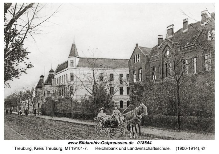 Treuburg, Reichsbank und Landwirtschaftsschule