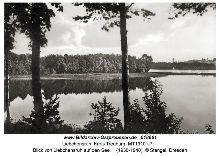 Liebchensruh, Blick von Liebchensruh auf den See