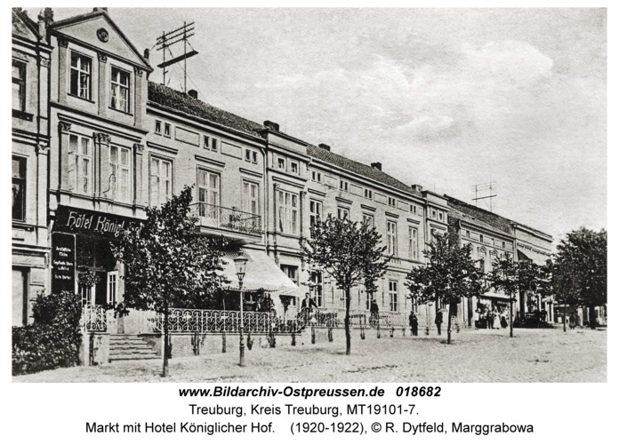 Treuburg, Markt mit Hotel Königlicher Hof