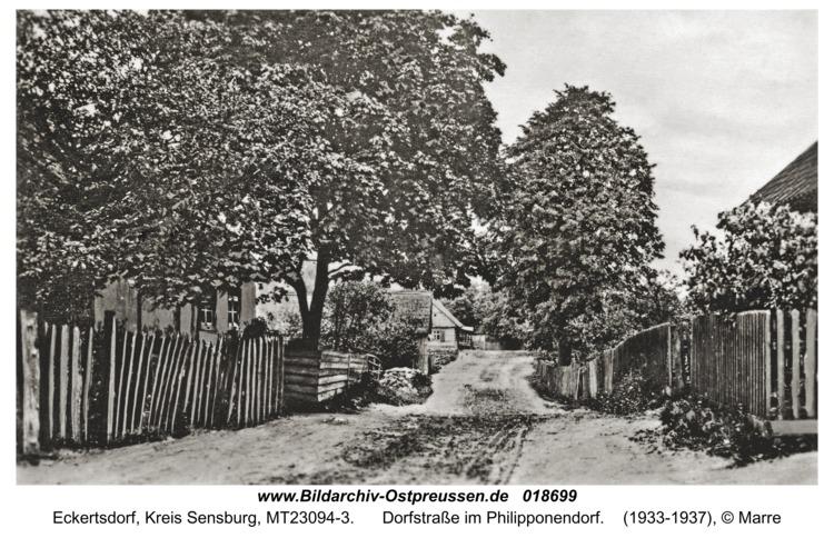 Eckertsdorf, Dorfstraße im Philipponendorf