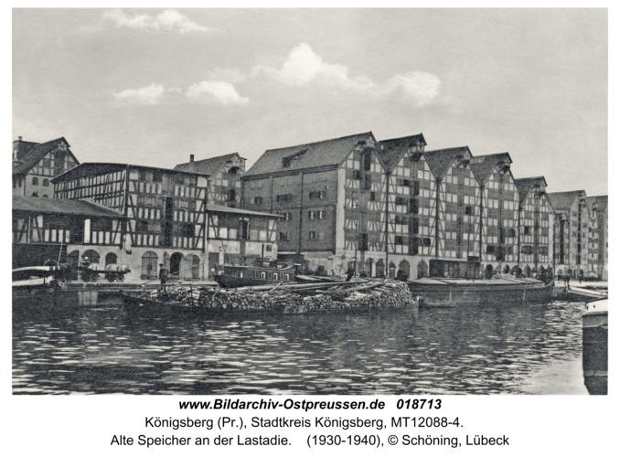 Königsberg, Alte Speicher an der Lastadie