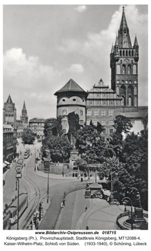 Königsberg, Kaiser-Wilhelm-Platz, Schloß