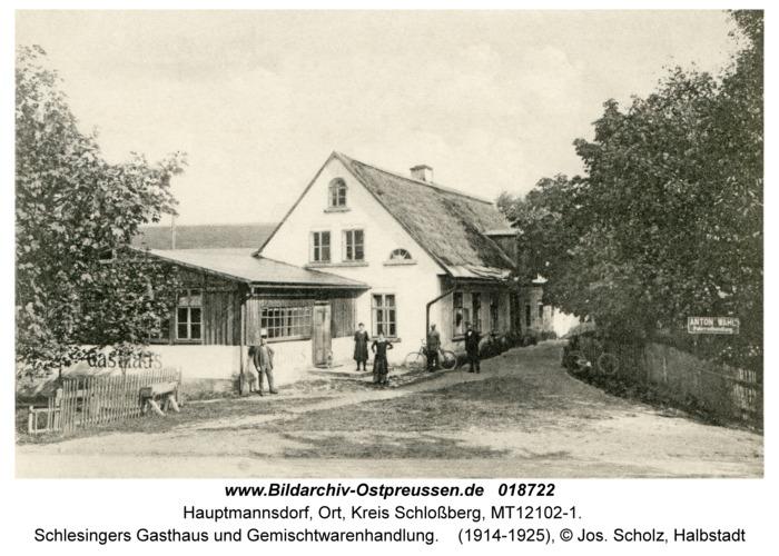 Hauptmannsdorf, Schlesingers Gasthaus und Gemischtwarenhandlung