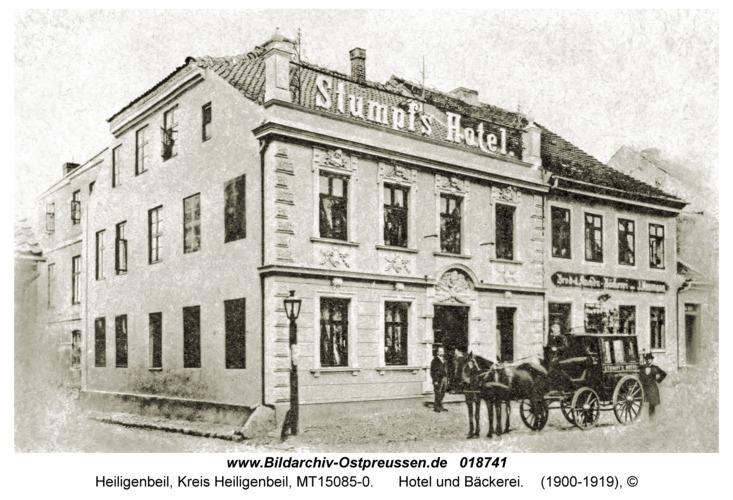 Heiligenbeil, Hotel und Bäckerei