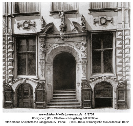 Königsberg, Patrizierhaus Kneiphöfsche Langgasse 27, Portal