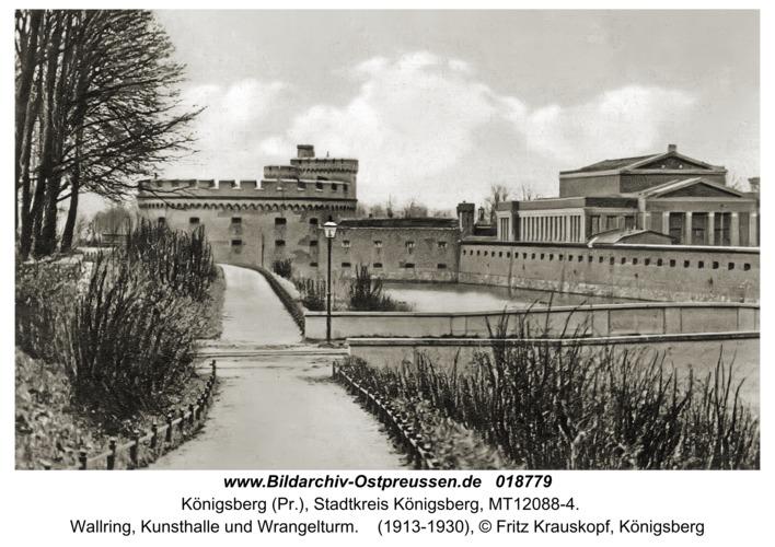 Königsberg, Wallring, Kunsthalle und Wrangelturm