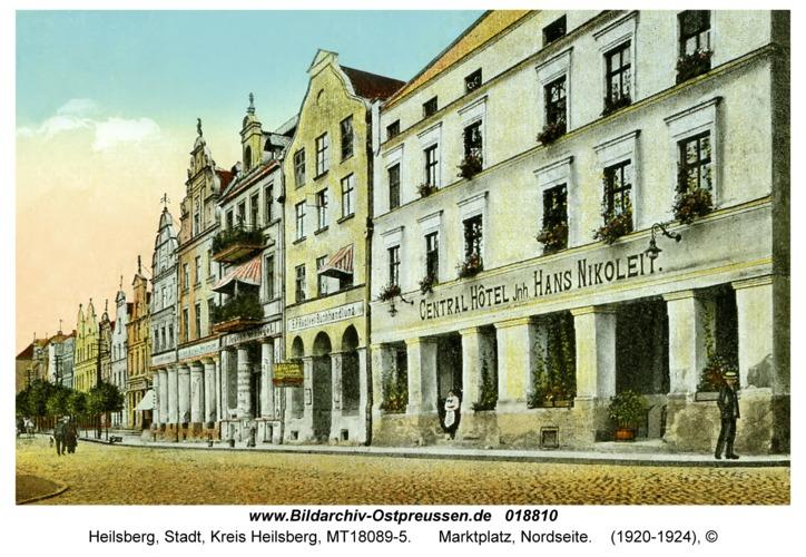 Heilsberg, Marktplatz, Nordseite