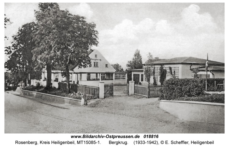 Rosenberg Kr. Heiligenbeil, Bergkrug
