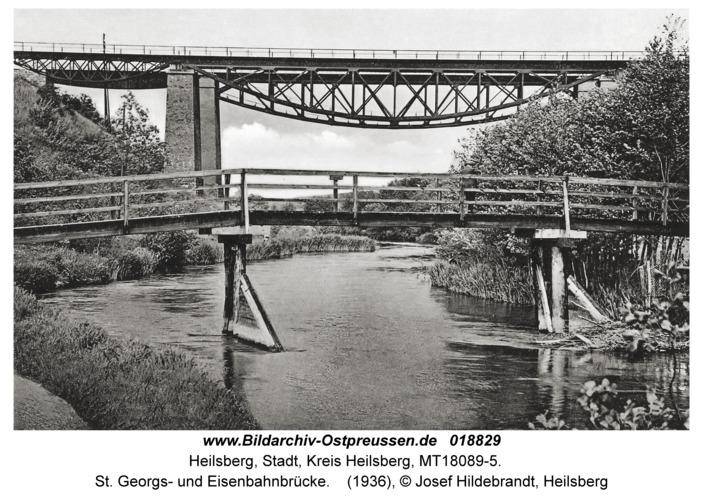 Heilsberg, St. Georgs- und Eisenbahnbrücke