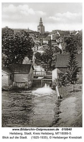 Heilsberg, Blick auf die Stadt
