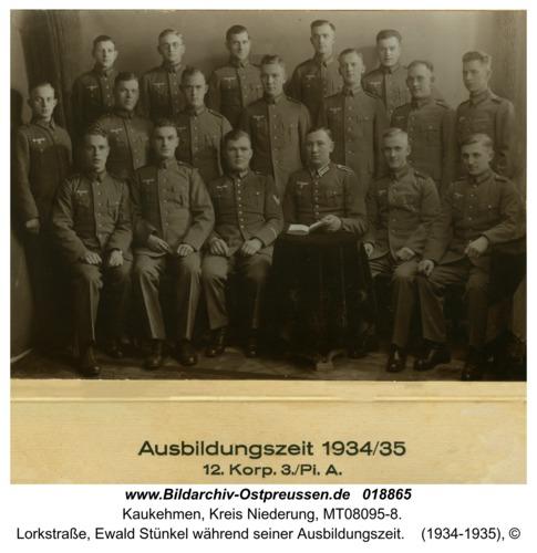 Kuckerneese, Lorkstraße, Ewald Stünkel während seiner Ausbildungszeit