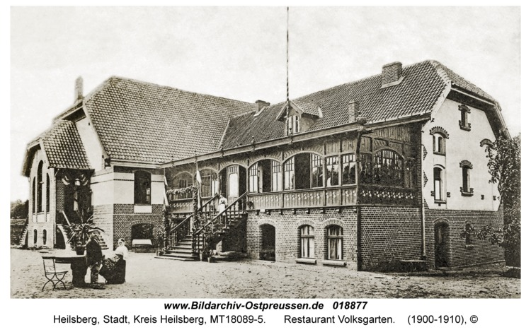 Heilsberg, Restaurant Volksgarten
