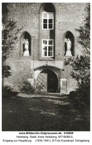 Heilsberg, Eingang zur Hauptburg