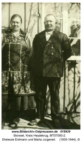 Skirwiet, Eheleute Erdmann und Marta Jurgeneit