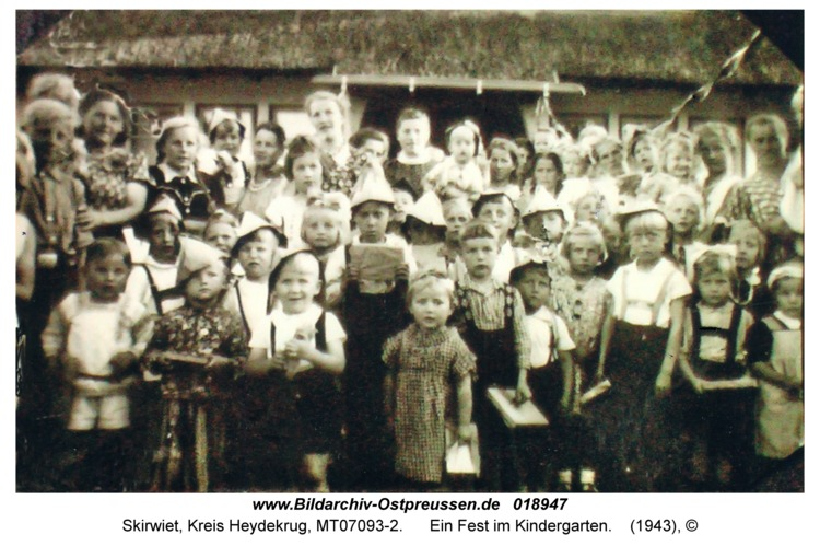 Skirwiet, Ein Fest im Kindergarten