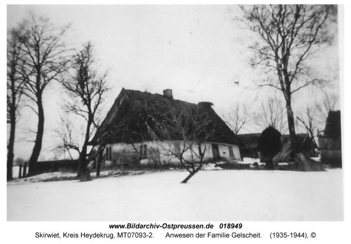 Skirwiet, Anwesen der Familie Gelscheit