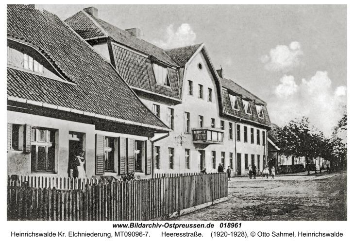 Heinrichswalde, Heeresstraße