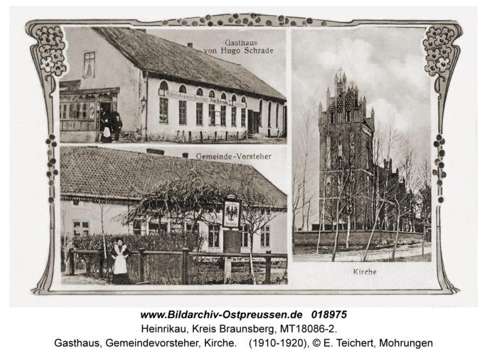 Heinrikau, Gasthaus, Gemeindevorsteher, Kirche