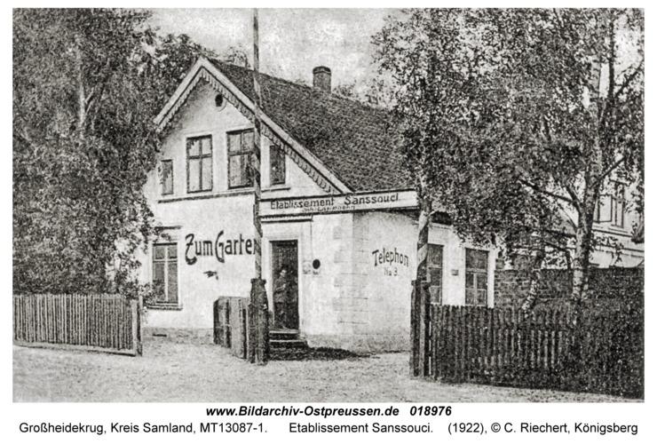 Groß Heydekrug, Etablissement Sanssouci