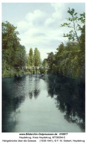 Heydekrug, Hängebrücke über die Sziesze