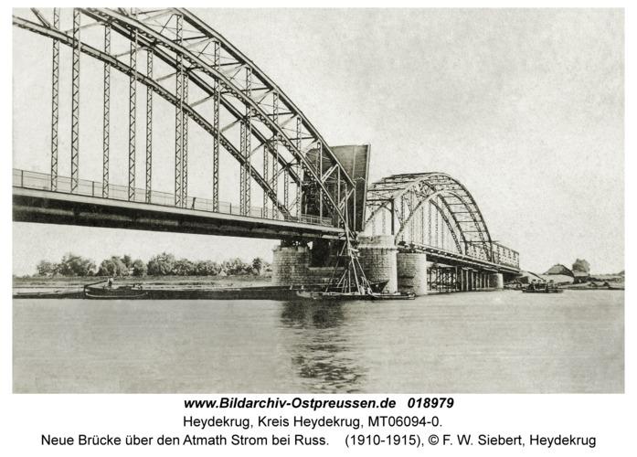 Heydekrug, Neue Brücke über den Atmath Strom bei Russ