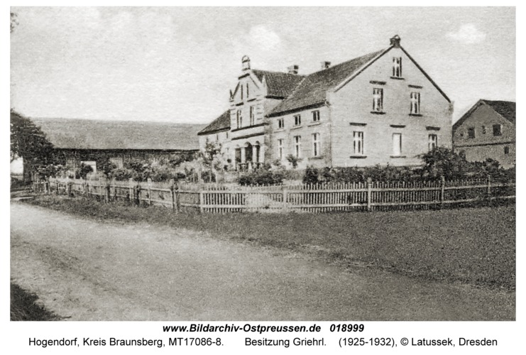 Hogendorf, Besitzung Griehrl