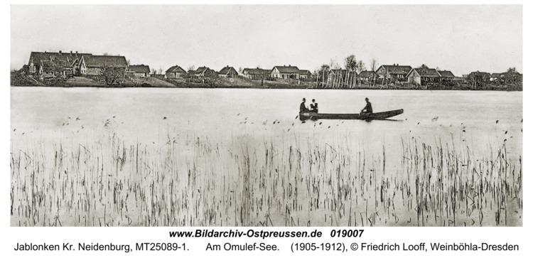 Jablonken Kr. Neidenburg, Am Omulef-See
